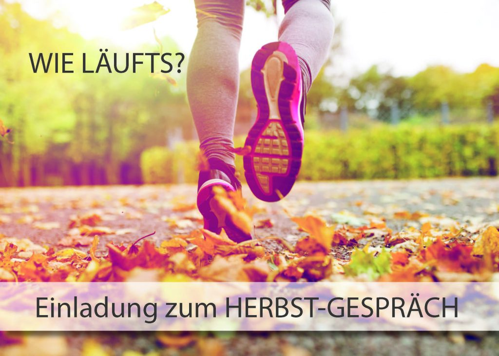 Postkarte Herbstgespräch